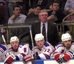 Glen Sather takes over head coaching duties for New York Rangers