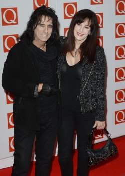 Alice Cooper and friend attend Q Awards in London