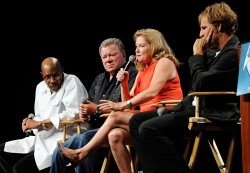 Avery Brooks, William Shatner, Kate Mulgrew and Scott Bakula attend the Star Trek Convention in Las Vegas