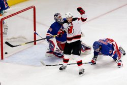 New Jersey Devils play the New York Rangers in game 5 of the Eastern Conference Finals at Madison Square Garden in New York