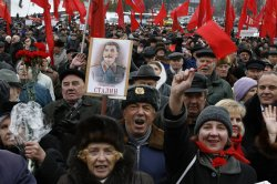 COMMUNIST PARTY IN KIEV MARKS THE 89TH ANNIVERSARY OF THE BOLSHEVIK REVOLUTION