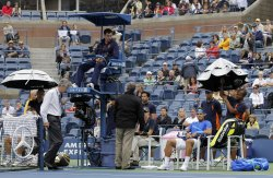 Rain Delay at the U.S. Open Tennis Championships in New York