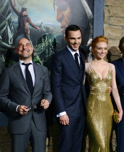 """Stanley Tucci, Nicholas Hoult and Eleanor Tomlinson attend """"Jack the Giant Slayer"""" premiere in Los Angeles"""