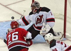 NHL Hockey New Jersey Devils vs Carolina Hurricanes in Raleigh, N.C.