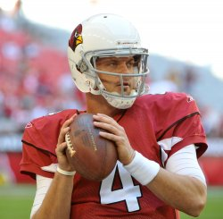 Cardinals Kolb warms up in Arizona.