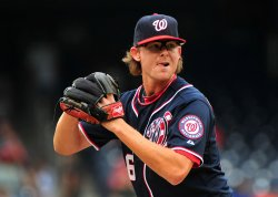 Nationals' pitcher Tyler Clippard pitches in Washington