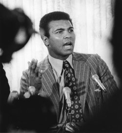 Muhammad Ali announces that he will quit boxing