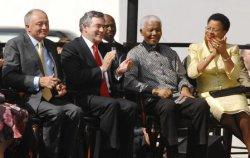 NELSON MANDELA STATUE UNVEILING IN LONDON
