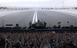 U2 performs in concert in Paris