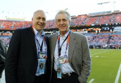 Cal Ripken, Pat Riley attend Super Bowl XLIV Indianapolis Colts vs. New Orleans Saints in Miami