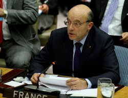 Minister of Foreign Affairs for France Alain Juppe urges Security Council to pass Syrian resolution at the United Nations