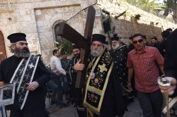 The Greek Orthodox Patriarch Carries A Cross On Good Friday, Jerusalem