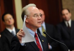Rep. Tom Price (R-GA) at a press conference on tax reform in Washington