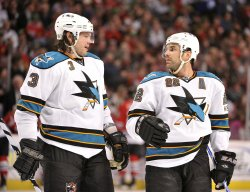 Sharks Murray, Boyle talk against Blackhawks in Chicago