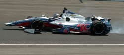 Andretti Sits Crashed At Indianapolis 500