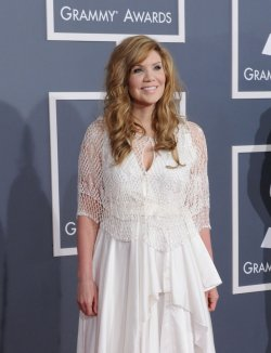 Alison Krauss arrives at the 54th annual Grammy Awards in Los Angeles