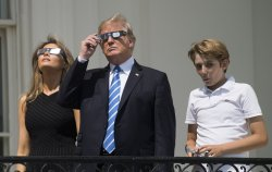 President Trump Views the Total Solar Eclipse at the White House