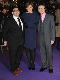 "Nick Frost, Sigourney Weaver and Simon Pegg attend ""Paul"" premiere"