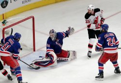 New Jersey Devils defeat the New York Rangers in game 3 of the Eastern Conference Finals at Madison Square Garden in New York