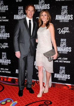 Brian Campbel and Lauren Miller arrive at the 2012 NHL Awards in Las Vegas