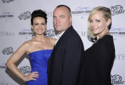 "Tim Chambers, Carla Gugino, and Marley Shelton attend the premiere of ""The Mighty Macs"" in Los Angeles"