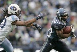 Seattle Seahawks running back Justin Forsett .rushes for 24 yards.