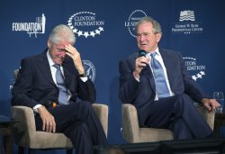 President Bush and President Clinton Participate in the Launch of the Presidential Leadership Scholars Program in Washington, D.C.