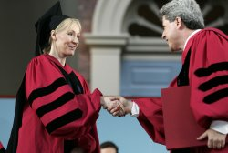 J.K. Rowling speaks at Harvard University Commencement in Cambridge