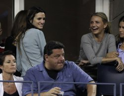 Cameron Diaz and Ashlee Simpson at the U.S. Open Tennis Championships in New York