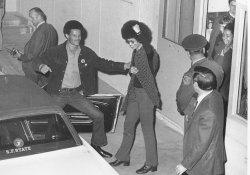 Angela Davis emerges from jail