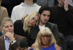 Chloe Sevigny and Ricky Saiz watch the Knicks at MSG