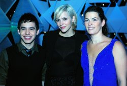 David Archuleta, Katharine McPhee and Nancy Kerrigan pose for a photo at Kaleidoscope in Washington