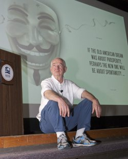 'Occupy Wall Street' creator Kalle Lasn launches new book 'Meme Wars: The Creative Destruction of Neoclassical Economies' in Vancouver