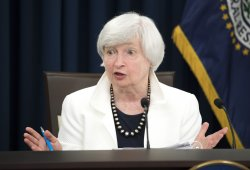 Federal Reserve Chair Janet Yellen speaks to the press in Washington