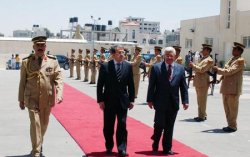 ITALIAN PRIME MINISTER MEETS WITH PALESTINIAN PRESIDENT ABBAS IN RAMALLAH