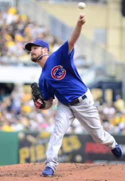 Chicago Cubs Pitcher Travis Wood in Pittsburgh
