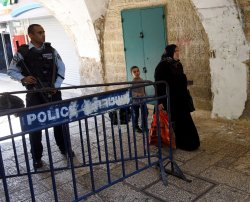 Israeli Security Guards Muslim Quarter Old City Jerusalem