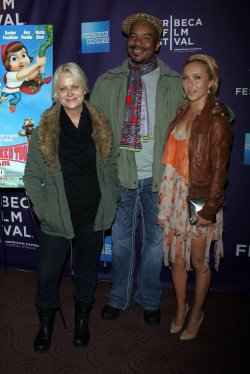 "Amy Pohler, David Alan Grier and Hayden Panettiere arrive for the Tribeca Film Festival Premiere of ""Hoodwinked Too"" in New York"