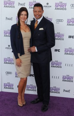 Terrence Howard and Erica Taylor attend the Film Independent Spirit Awards in Santa Monica, California