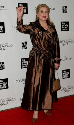 Catherine Deneuve attends the 40th Annual Chaplin Award Gala in New York