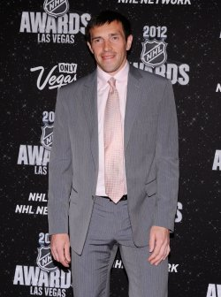 Pavel Datsyuk arrives at the 2012 NHL Awards in Las Vegas