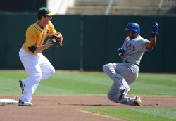 Oakland A's vs Texas Rangers in Oakland, California