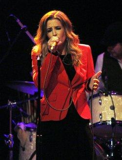 Lisa Marie Presley performs in concert in New York
