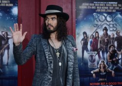 "Russell Brand attends the ""Rock of Ages"" premiere in Los Angeles"