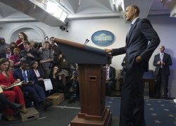 President Obama holds his final press conferene in Washington, D.C.