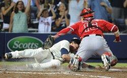 The Atlanta Braves play the Los Angeles Angels