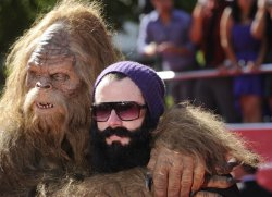 MLB player Brian Wilson of the San Francisco Giants (R) and sasquatch attend the 2012 ESPY Awards in Los Angeles