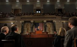 President Barack Obama delivers his State of the Union address in Washington DC