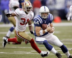 Colts Clark Chased by 49ers Bly