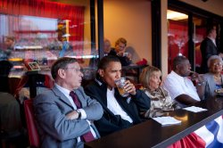 President Obama attends 2009 All-Star Game in St. Louis